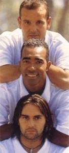 Montpellier, été 1999, le trio magique du FC Nantes reconstitué...en photo seulement