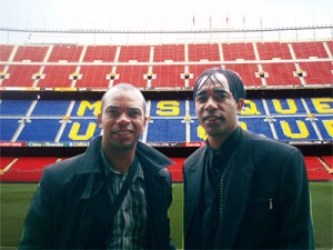 William et Patrice Loko au Nou Camp - Barcelone 2009