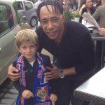 Patrice et un jeune supporter de l'EDF - 4/06/2016