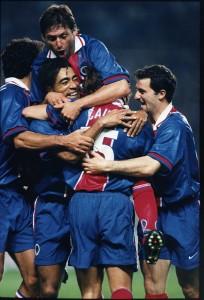 But pour le P.S.G. - 1996/1997 (photo : Ch. Gavelle - PSG)