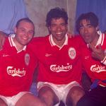 V. Guérin, Raï et Patrice à Anfield, Liverpool, 24 avril 1997