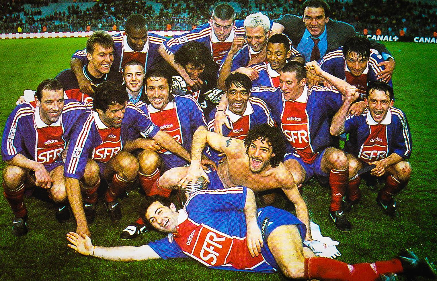 PSG vainqueur de la Coupe de la Ligue 1998