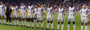 L'équipe de France à l'Euro 96