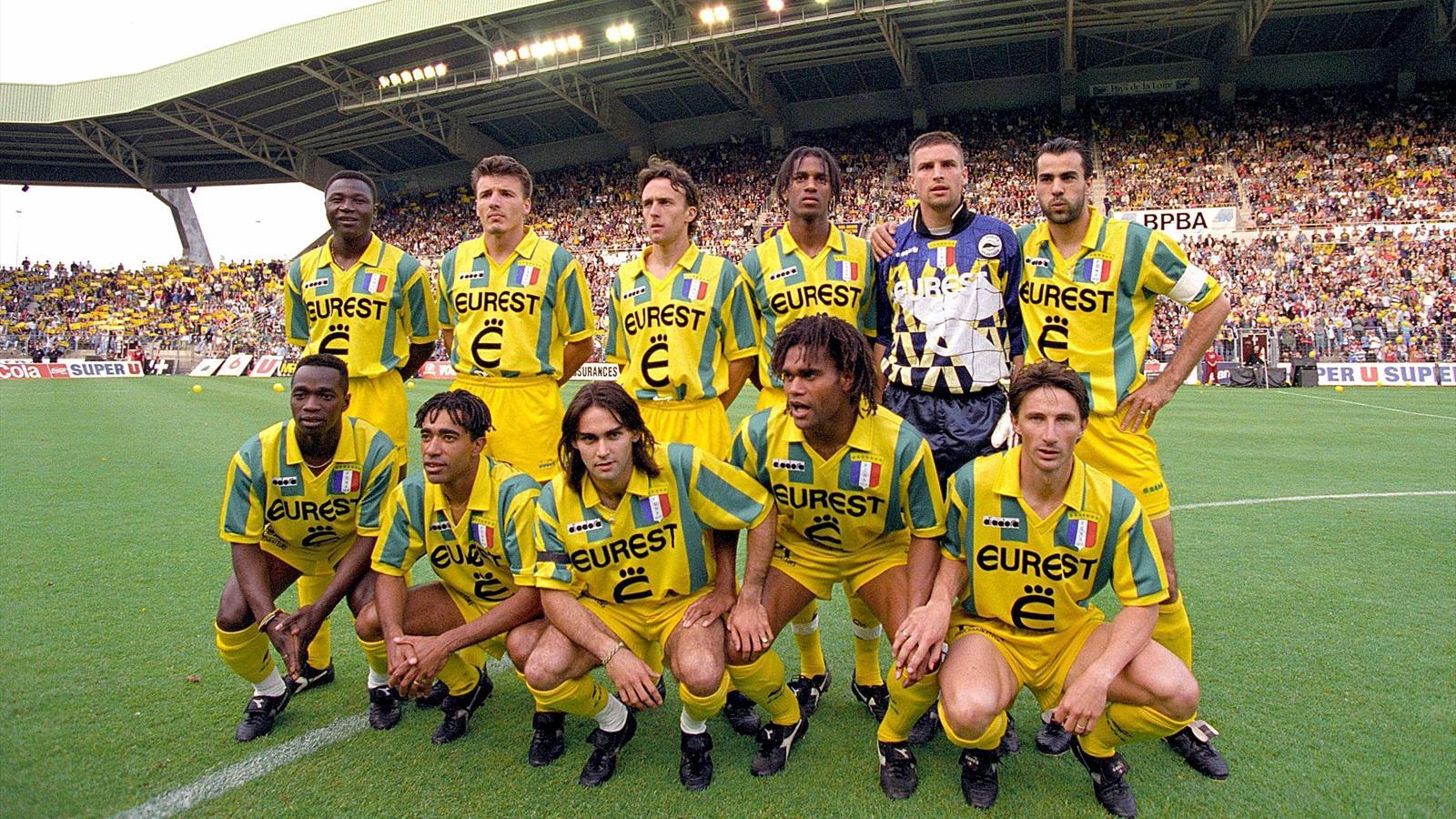 L'équipe de Nantes, championne de France 1994/1995 (Photo : D.R.)